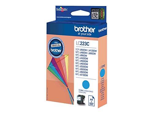 Brother LC223C - Cartucho de tinta cian (duración estimada: hasta 550 páginas según ISO/IEC 24711)