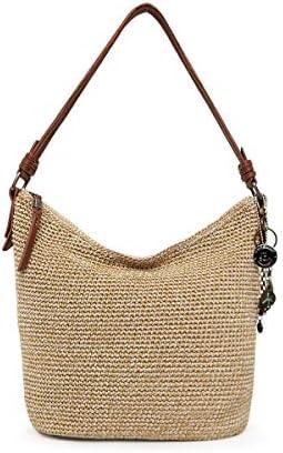 The Sak unisex adult Women s Sequoia Crochet Hobo Handbag Bamboo Static One Size US product image