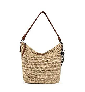 The Sak unisex adult Women s Sequoia Crochet Hobo Handbag Bamboo Static One Size US