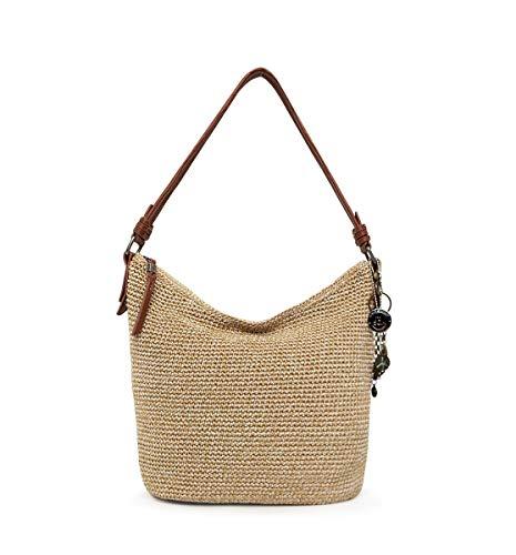 The Sak unisex adult Women's Sequoia Crochet Hobo Handbag, Bamboo Static, One Size US