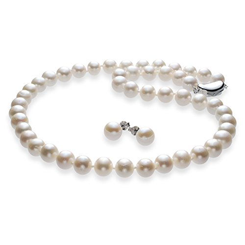 【品質保証書付】本真珠ネックレス&イヤリングセットorピアスセット ホワイトゆったりサイズ50cm 極太11mm 冠婚葬祭 (ピアスセット)