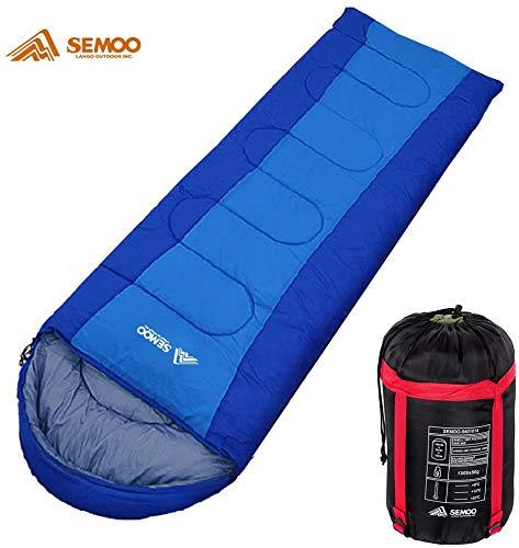 Semoo - Schlafsack - Deckenschlafsack - 3-Jahreszeiten-Schlafsack - 200 x 75 cm - Blau