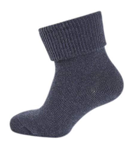 Melton Baby-Jungen ABS-Babysocken-Melange Colours Socken, Blau (Navy 281), 16 (Herstellergröße: 15-16)