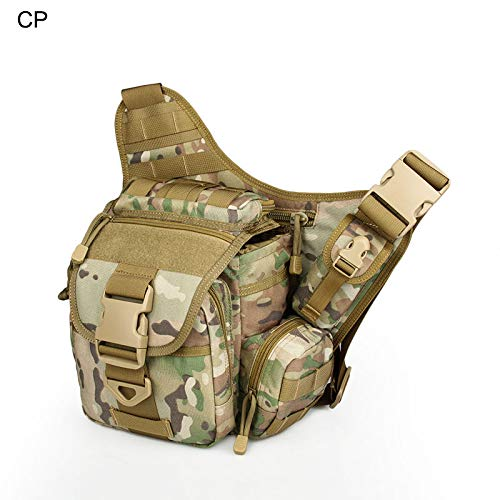 CANIS LATRANS Tactical Military Pack Backpack 1000D Nylon Waterproof Multi-Functional Camera Shoulder Bag Suitable(CP)