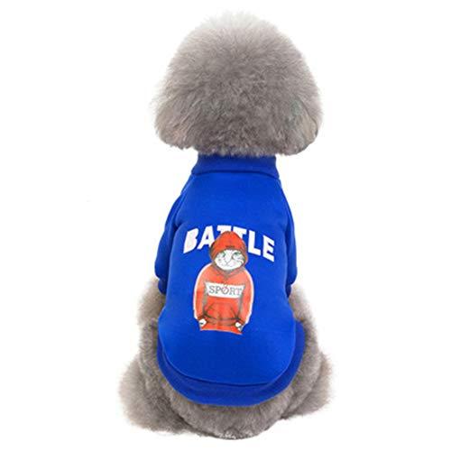 XMCWZJ Hond Kleding Herfst En Winter Kleding Warm Nordic Stijl Mode Trui Teddy Beer Xiong Bomei Huisdier Kleding Katoen