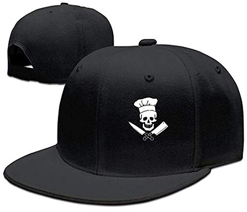 Nifdhkw Skull-Chef Cooking Skull Chapeau Grill Master Chapeau Strapback Style Unisexe Multicolor94