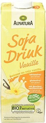 Alnatura Bio Sojadrink Vanille, glutenfrei, laktosefrei, vegan, 8er Pack (8 x 1 kg)
