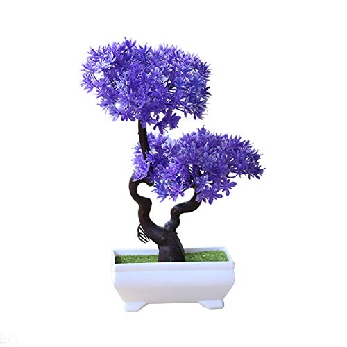 litymitzromq Artificial Flowers Outdoor Plants, Artificial Plant Tree Bonsai Fake Potted Ornament for Home Desk Garden Stage Office Wedding Restaurant Party Cafe Shop Decoration 2#
