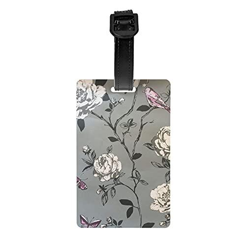 Amour Bird and Butterfly by Rasch etiqueta de equipaje protección de privacidad bolsa de viaje etiqueta maleta