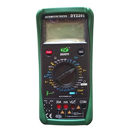 Zjcpow Medición Meter DY2201 Multímetro automotriz Tach Dwell de ángulo Digital RPM Temperatura xuwuhz