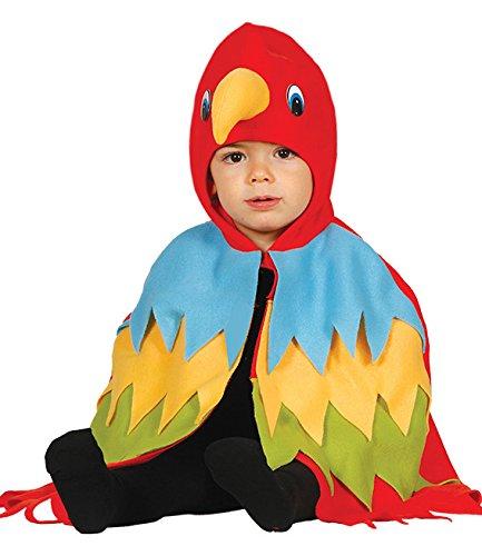 Guirca - Disfraz de loro, talla 12-24 meses, color rojo (85993)