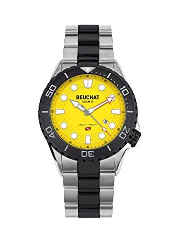 Beuchat Herren-Armbanduhr aus Stahl,...