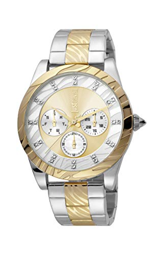 Just Cavalli Damen-Armbanduhr JC Solo XL Damenuhr Analog Quarz JC1L130M0085
