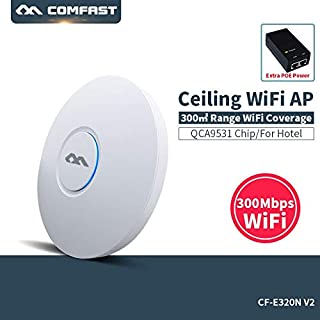 COMFAST CF-E320V2 300Mbps 802.11b/g/n WiFi Ceiling Wireless AP QCA9531 Indoor AP With 48V POE OPEN DDWRT Access Point AP B...