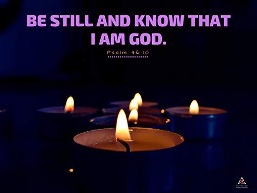 Seja ainda e saiba que eu sou Deus Poster Cópia da parede (24x18)