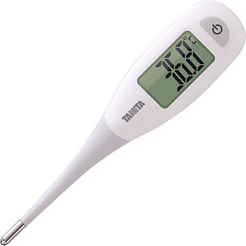 タニタ 電子体温計 BT-471-WH ホワイト 大画面で見やすく、先端が柔らかくてはかりやすい体温計