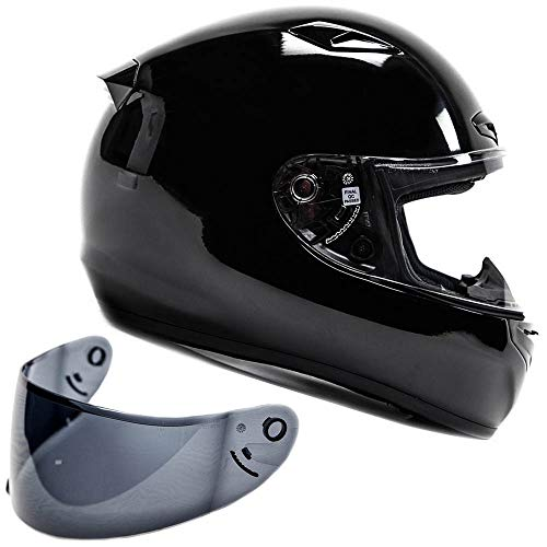 Snell M2015 Approved Full Face Motorcycle Helmet (XL - Black)