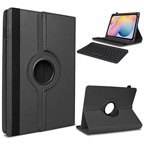 UC-Express Tablet Hülle kompatibel für Samsung Galaxy Tab A7 2020 Tasche Tastatur Schutzhülle Bluetooth Hülle Cover 360 Drehbar Keyboard, Farbe:Schwarz