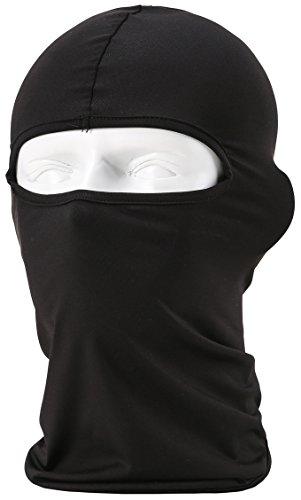 Pasamontañas unisex, equipamiento deportivo, cortavientos, antipolvo, ajustable, máscara facial para equitación, negro
