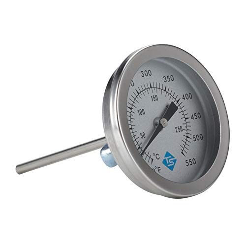 mementoy Termómetro de horno de acero inoxidable con vástago largo de fritura termómetro, 10-287°C
