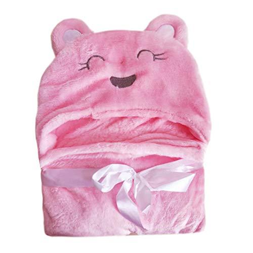 DK-tre Showy pasgeboren baby capuchon deken bad handdoek kinderen dier patroon badjas H01