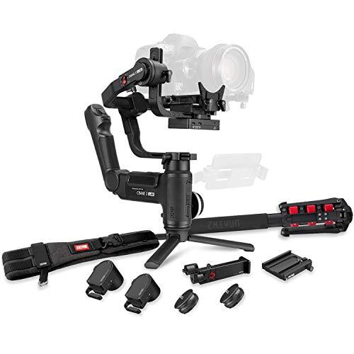 Zhiyun Crane 3 Lab estabilizador de cardán de Mano para cámaras DSLR, Canon, Sony, Nikon, Panasonic, transmisión de Imagen inalámbrica ViaTouch