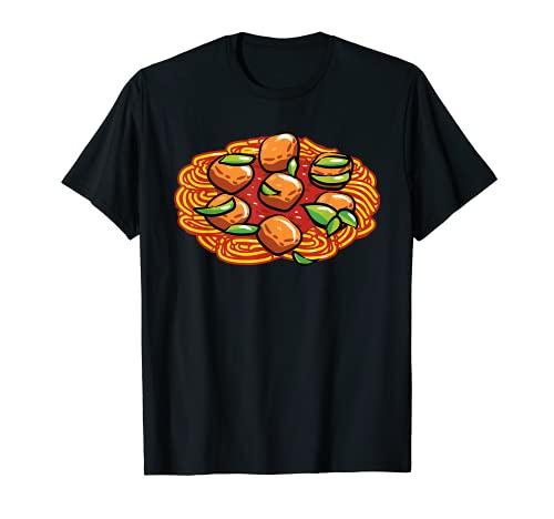 Espaguetis y albndigas Lazy DIY Halloween Disfraz Pasta Camiseta