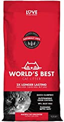 OUTSTANDING ODOR CONTROL — More cats shouldn't mean more smells — keep your cats happy with a natural litter with long-lasting odor control. QUICK CLUMPING & EASY SCOOPING — Multiple cats can most often mean more clean up — but not with this fast-act...