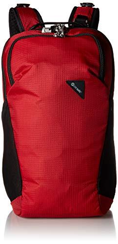 Pacsafe Vibe 20 - Anti-Diebstahl Rucksack, Backpack, Diebstahlschutz Daypack, Sicherheitstechnologie 20 Liter, Rot/Goji Berry