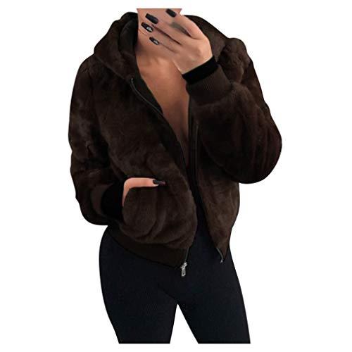 TWIFER Manteau Femme Hiver Doudoune Femme Longue Duffle Coat Fourrure Jacket Leather, Veste 2018 Mode Manches Longues ÉPaissir Doublé Peluche Parka RembourréE