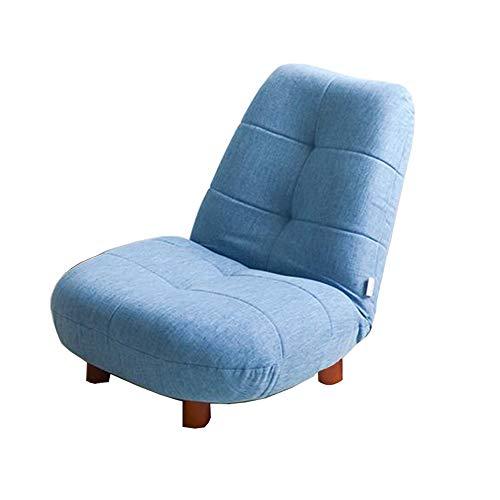 Un Canapé Chaise 14 Positions Réglable Chaise Pliante Chaise De Sol Balcon Chaise De Loisirs 64×50×50CM (Couleur : Bleu clair)