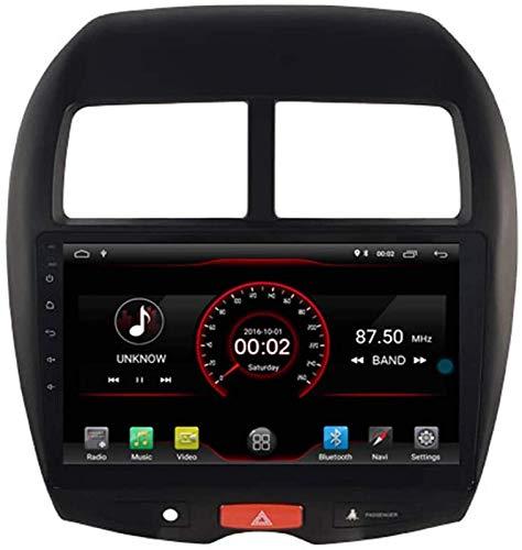 FWZJ Autosion Android 10 Car DVD Player GPS Stereo Head Unit Navi Radio Multimedia WiFi para Mitsubishi ASX RVR Outlander Sport Peugeot 4008 Soporte de Control del Volante