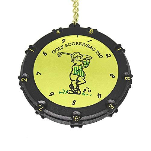 QHALENゴルフスコアカウンター18ホールゴルフスコアストロークショットカウンターキーパーラウンドスコアタグタグクリップキーチェーン用付カラー1