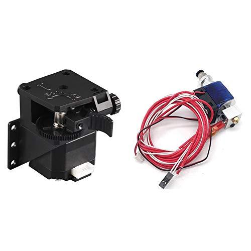 SNOWINSPRING 1 Set 3D Printer V6 Remote Extruder 12V Extrusion Nozzle Kit & 1 Pcs 3D Printer Accessories Remote Feed Extruder