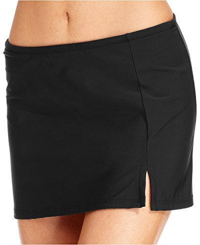 Price comparison product image Swim Solutions Women's Black Tummy-Control Swim Skirt,  size 10