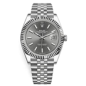 Fashion Shopping Men's Rolex Datejust 41 Dark Rhodium Dial Stainless Steel Watch on Jubilee Bracelet