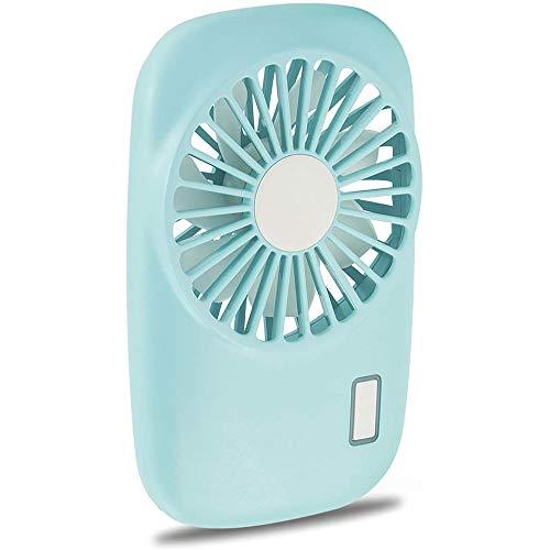 BIGMALL Ventilador De Mano Mini Ventilador Potente Ventilador Portátil Personal Pequeño Velocidad Ajustable Ventilador De Pestañas Recargable USB para Niños Niñas Mujer Hombre Oficina