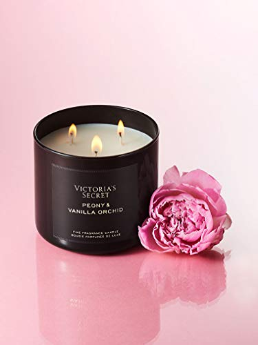 Nordstrom V.i.c.t.o.r.i.a.'s S.e.c.r.e.t Peony and Vanilla Orchid 3-Wick Candle
