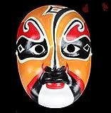 HLJZK La máscara de Pulpa de Yeso Pintada a Mano Puede Usar Estilo Chino Género Sichuan Opera Cambio de Cara Atrezzo de Rendimiento Artesanía Beijing Opera Tianwang