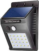 Evaluemart Solar Wireless Security Motion Sensor LED Night Light (Black)