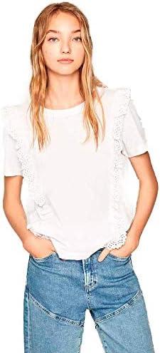 Pepe Jeans Camiseta con Volantes para Mujer - PL504493
