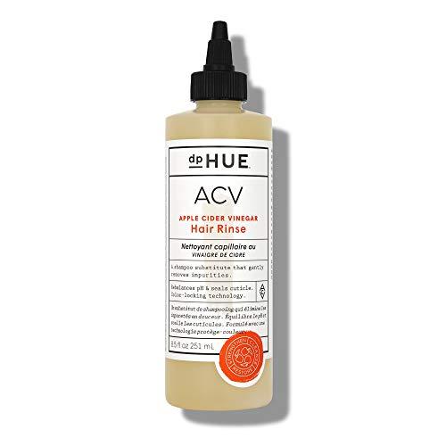 dpHUE Apple Cider Vinegar Hair Rinse, 8.5 oz - Apple Cider Vinegar Shampoo Alternative - Lavender Extract, Aloe Vera & Argan Oil - Scalp Cleanser - Removes Buildup, Adds Volume