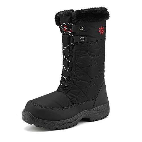 DREAM PAIRS Women's Goose Black Faux Fur Knee High Winter Snow Boots Size 10 M US