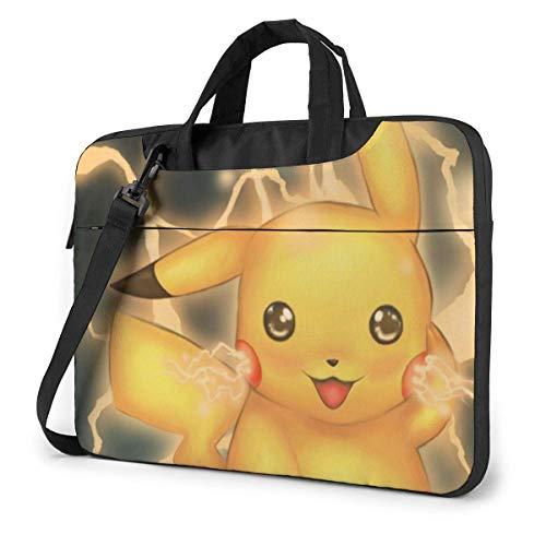 Lovely Pikachu Laptop Shoulder Bag,Shockproof Slim Computer Carry Case 13'/14'/15.6'