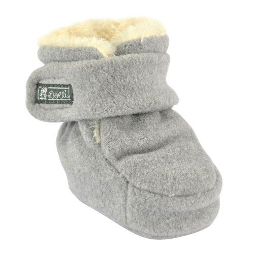 Döll Unisex Baby Babyschuhe Fleece Strumpfhose, Grau (Light Gray Melange 8100), 1.5 (Herstellergröße: 1,5)