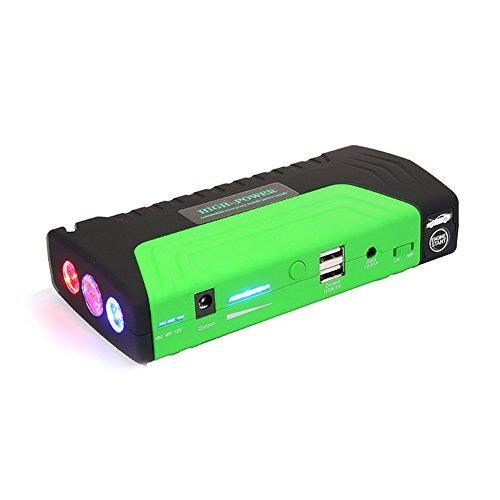 Auto Starthilfe Autobatterie Anlasser Autostarter Der Batterie 12V Der Beweglichen Energie, Multifunktionsladenschatzmobile Computer-Kamera-Spielkonsole,Green