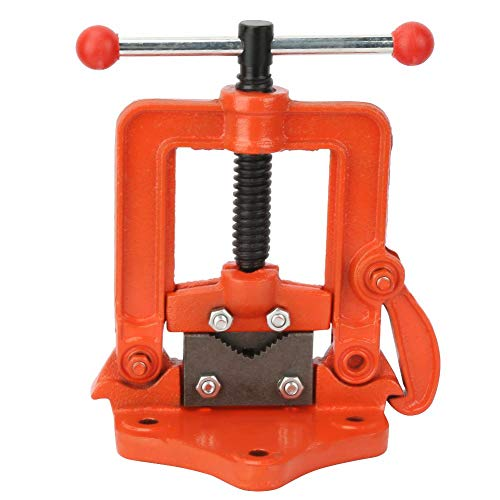 Buy Discount 2/3/4 Inch Cross Flat Press Vise Cast Iron Pipe Vise Table Rotating Clamp for Factory M...