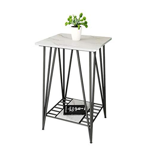 XHF Bureau, Table D'Appoint de Canapé, Table de Roche D'Art de Fer de Salon, Petite Table D'Angle Longue Légère/Table Basse,40X50X75 Cm,40X50X75 Cm