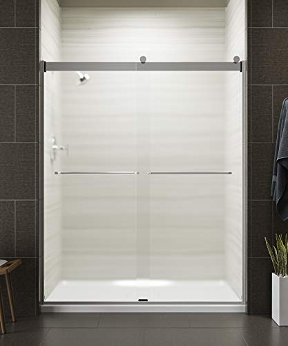 Save %9 Now! KOHLER K-706015-D3-SH Levity Bypass Shower Door with Towel Bar and 1/4-Inch Frosted Gla...