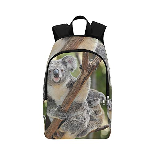Australian Koala Bear with Her Baby Or Joey in Euc Casual Daypack Travel Bag College School Backpack for Mens and Women